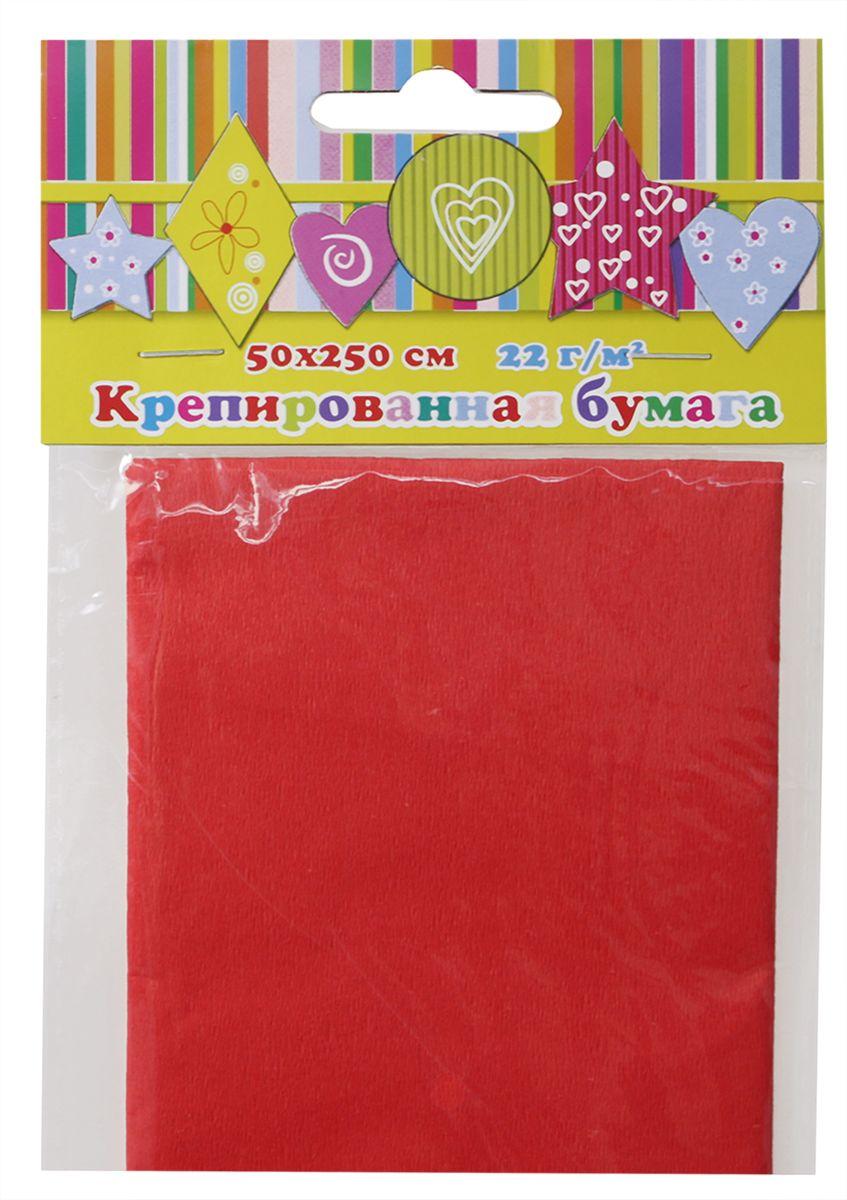 Феникс+ Бумага крепированная цвет красный 50 см х 250 см28584Крепированная бумага может использоваться для упаковки, поделок, декорирования и других видов творчества.Размеры: 500 мм х 2500 мм.Упаковка: пластиковый пакет с подвесом.