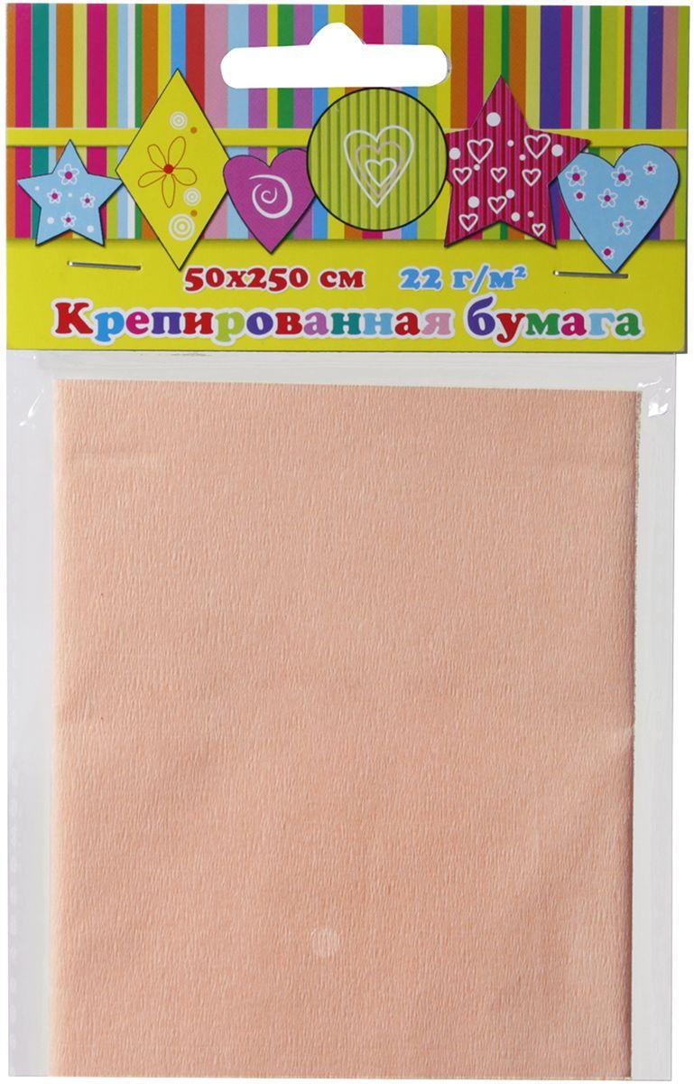 Феникс+ Бумага крепированная цвет персиковый 50 см х 250 см roomba