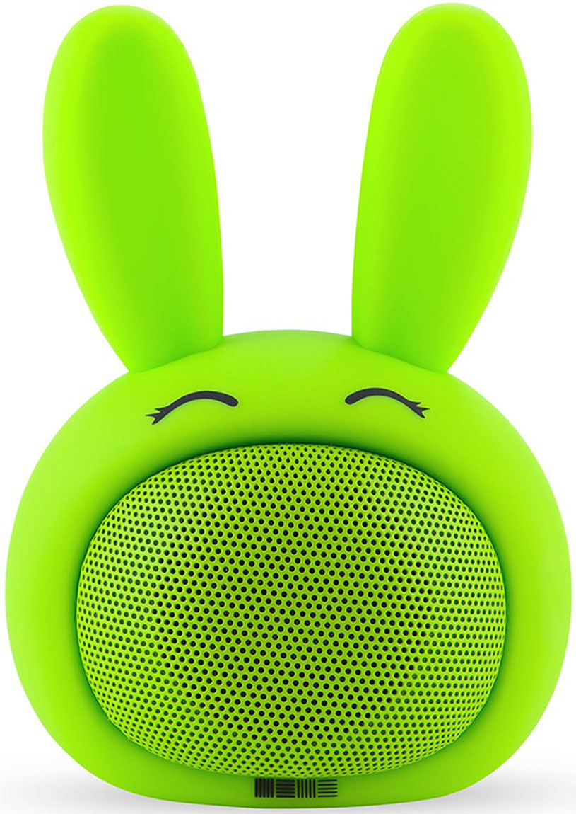 Interstep Funny Bunny 3W SBS-150, Green портативная Bluetooth-колонка беспроводная акустика interstep sbs 150 funnybunny lime is ls sbs150gre 000b201