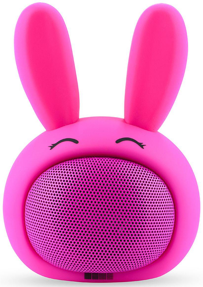 Interstep Funny Bunny 3W SBS-150, Pink портативная Bluetooth-колонка47688Портативная колонка 3W, 2 способа подключения, гиппоалергенные материалы, кабель для зарядки в комплекте.Bluetooth 2. 1Дистанция до 5 метровМощность 3 WЧАстотный диапазон 100Hz-20KHzЧувствительность 82 dBСопротивление 4 Омрежимы работы : bluetooth / AUX Время работы 5 чВстроенный акб 400 mAh Li-ionЗаряд 5V/1A