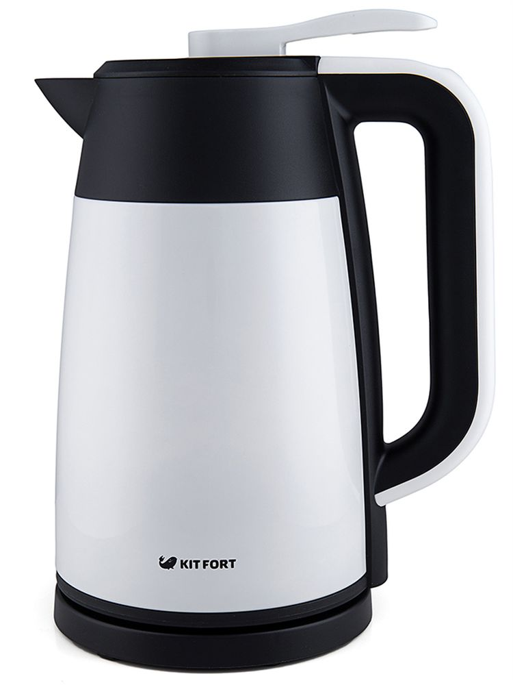 Kitfort КТ-620-1 Vacuum Edition чайник электрическийКТ-620-1Электрический чайник-термос Kitfort КТ-620 предназначен для кипячения воды в квартирах, загородных домах, гостиничных номерах, офисах и других подобных местах. Корпус чайника имеет двойные стенки, воздух между которыми откачан до форвакуума. За счет этого чайник сохраняет тепло, как термос. Светодиодный дисплей показывает температуру воды внутри чайника. Благодаря такой конструкции вода в чайнике будет долго оставаться горячей, и вы всегда видите ее температуру. Чайник Kitfort КТ-620 позволяет экономить электроэнергию. Он более экономичен, чем термопот, и, в отличие от него, имеет более простую и, как следствие, более надежную конструкцию. Крышка защищает от случайного пролива или выплескивания воды.Особенности и функции: двойные стенки с вакуумом; эффект термоса: вода остывает очень медленно; наружная поверхность корпуса не нагревается выше 35°С; крышка-непроливайка с клапаном; контроль температуры; электронное управление.