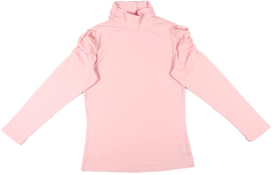 Фото Водолазка для девочки Cherubino, цвет: светло-розовый. CAJ 61387. Размер 158