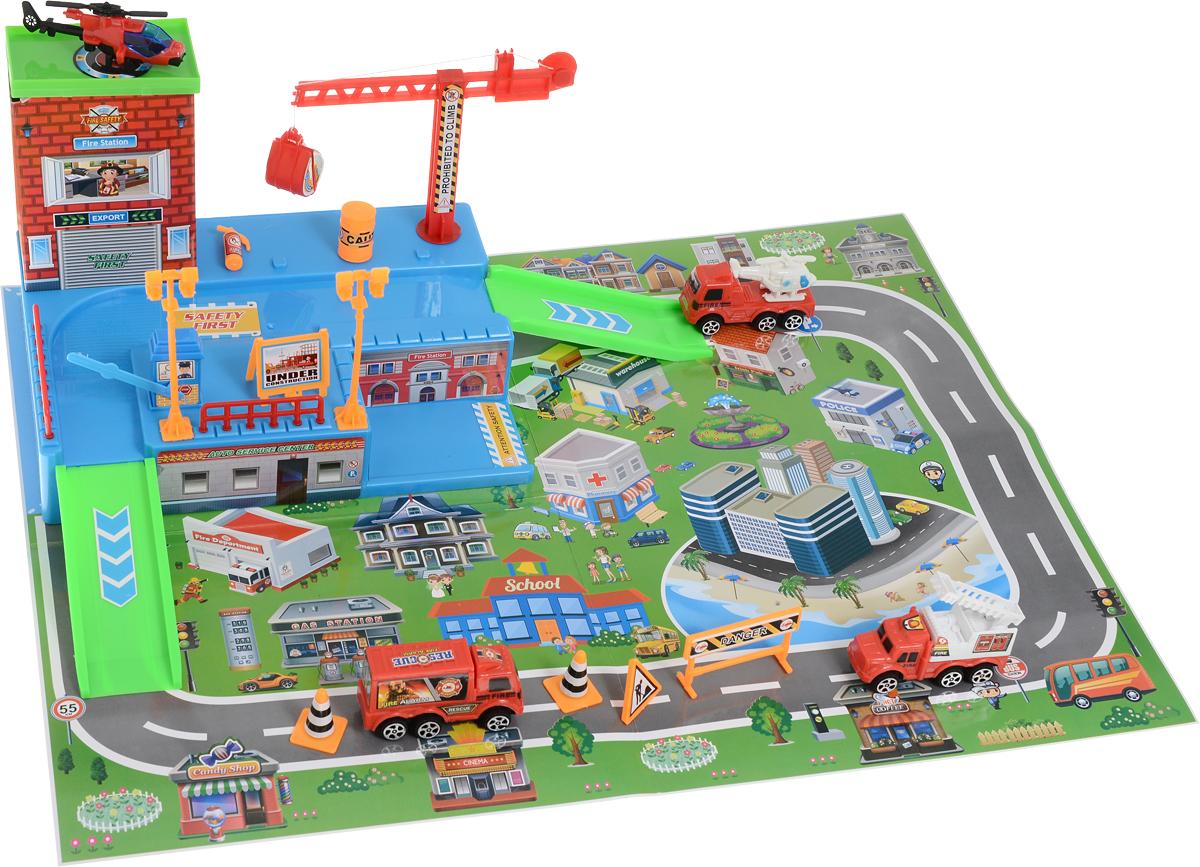 Veld-Co Игровой набор Парковка Спасатели