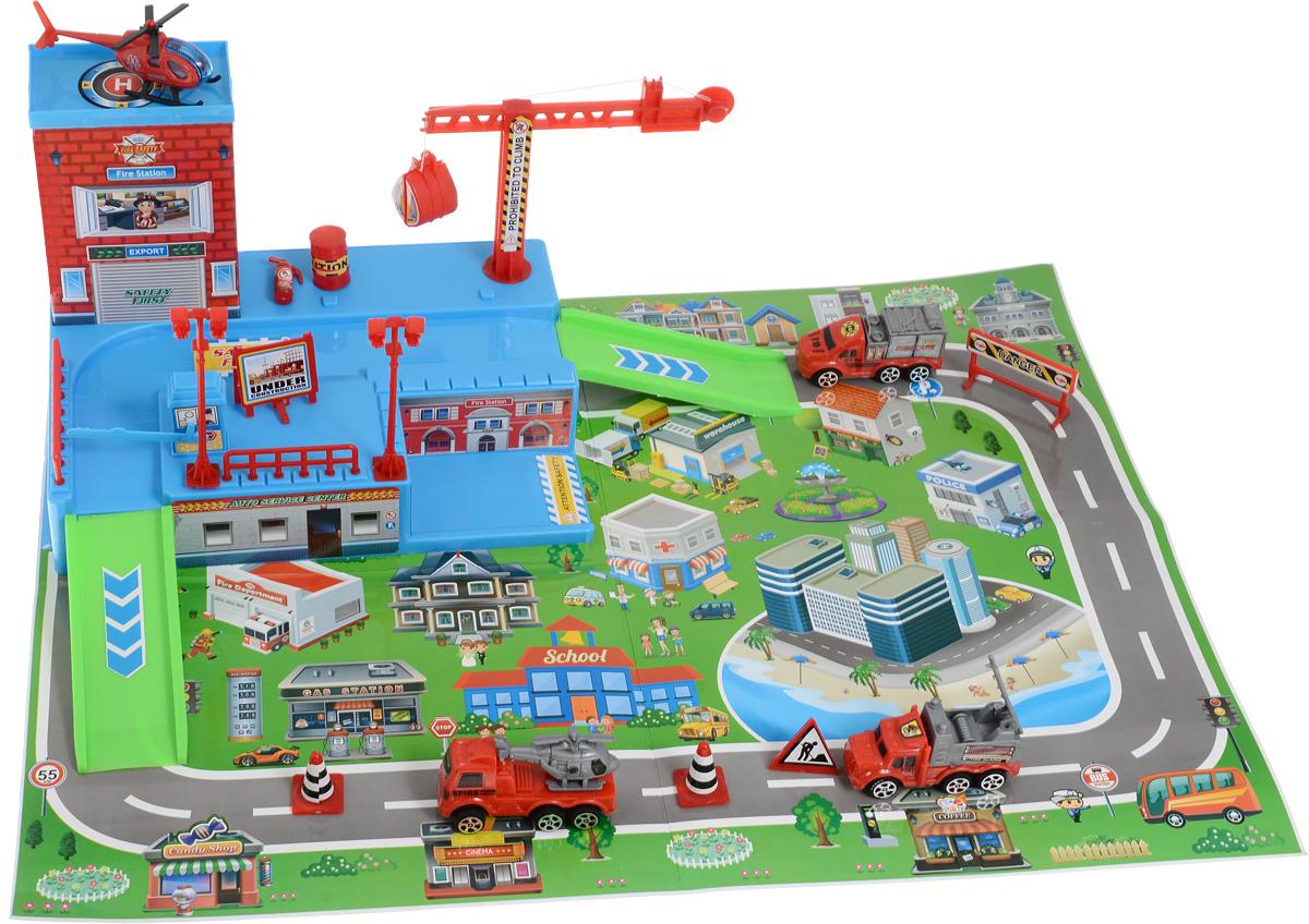 Veld-Co Игровой набор Парковка Пожарная станция