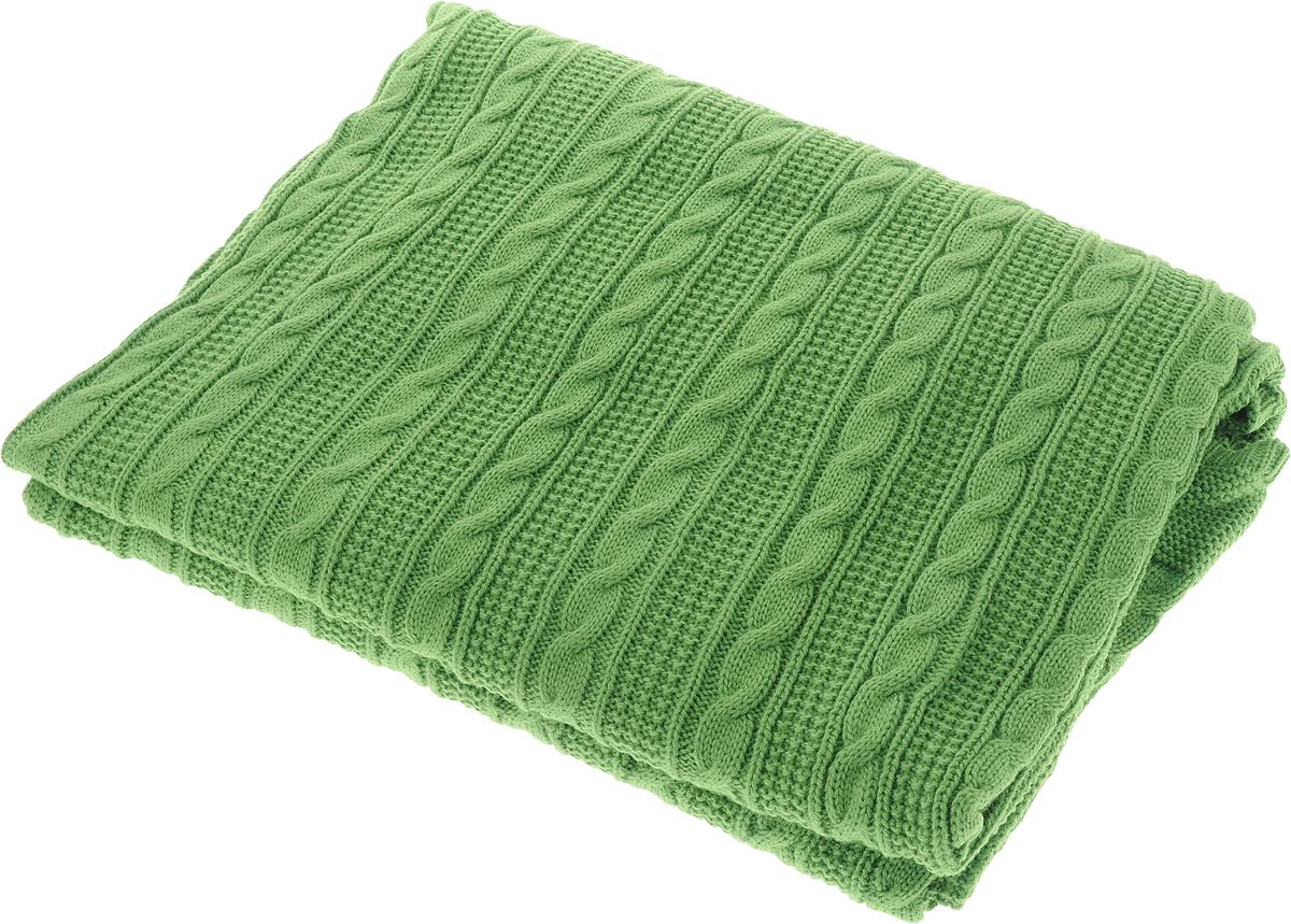 Плед Apolena Plait, цвет: зеленый, 130 х 180 см87-V262/1Вязаный плед Apolena Plait выполнен из мягкой объемной пряжи (100% акрил) с модным рисунком косичка. Такой плед пригодится в любое время года. Удобство, комфорт, стиль и экологичность в одном предмете.Плед является отличным подарком, ведь он будет всегда актуален, особенно для ваших родных и близких, ведь вы дарите им частичку своего тепла!