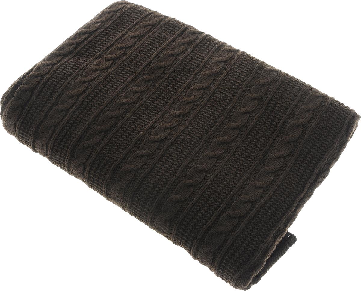 Плед Apolena Plait, цвет: темно-коричневый, 130 х 180 см87-V009/2Вязаный плед Apolena Plait выполнен из мягкой объемной пряжи (100% акрил) с модным рисунком косичка. Такой плед пригодится в любое время года. Удобство, комфорт, стиль и экологичность в одном предмете.Плед является отличным подарком, ведь он будет всегда актуален, особенно для ваших родных и близких, ведь вы дарите им частичку своего тепла!