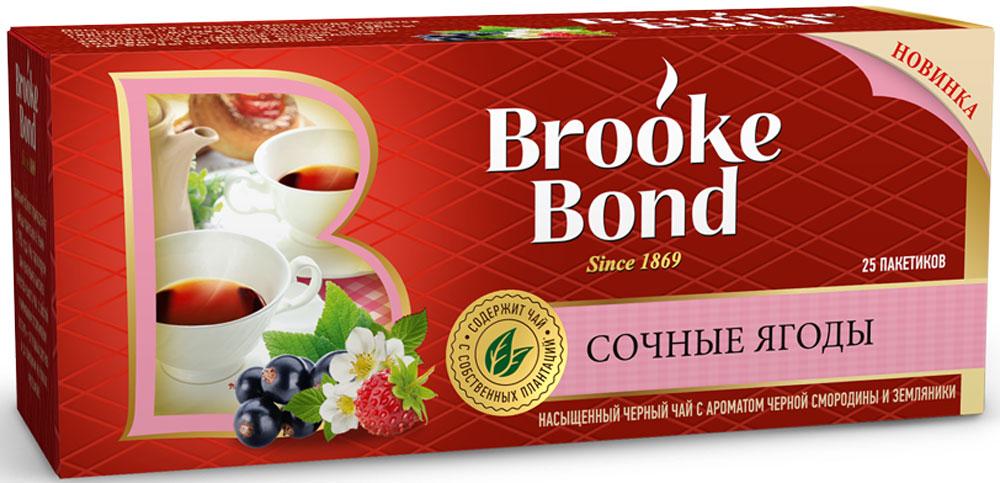 Brooke Bond черный чай с ароматом черной смородины и земляники в пакетиках, 25 шт67126724Чай, выращенный на собственных плантациях, дает гарантию высокого качества, поскольку мы с заботой и вниманием отслеживаем весь его путь: от первых ростков и до появления на полках.Богатый аромат и насыщенный вкус дарят тепло родного дома.Всё о чае: сорта, факты, советы по выбору и употреблению. Статья OZON Гид