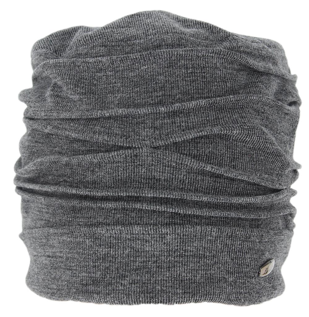 Шапка женская Level Pro, цвет: серый меланж. 390967. Размер 56/58390967Женская шапка Level Pro выполнена из сочетания шерсти и полиэстера. Для комфорта и тепла внутри шапки предусмотрена трикотажная подкладка. Модель оформлена декоративными складками и украшена небольшой металлической пластиной.
