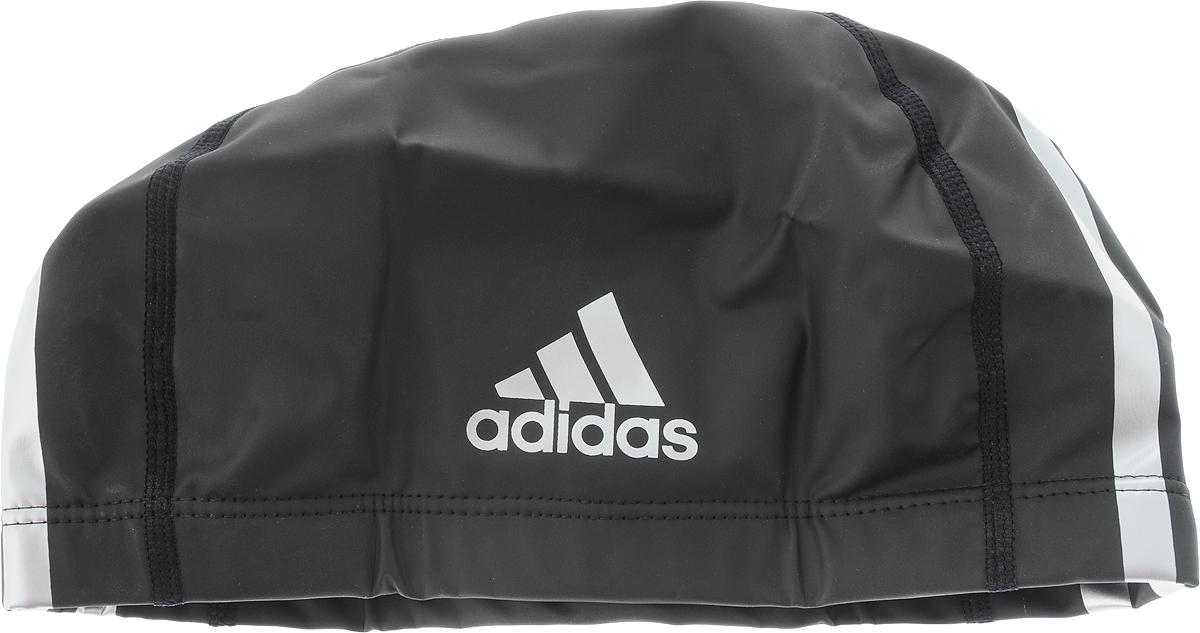 Шапочка для плавания Adidas, цвет: черныйF49116Классическая шапочка для плавания Adidas плотно облегает голову, обеспечивая комфортную и надежную посадку. Водоотталкивающее покрытие сохраняет волосы сухими, а специальный состав материала снижает риск их повреждения.