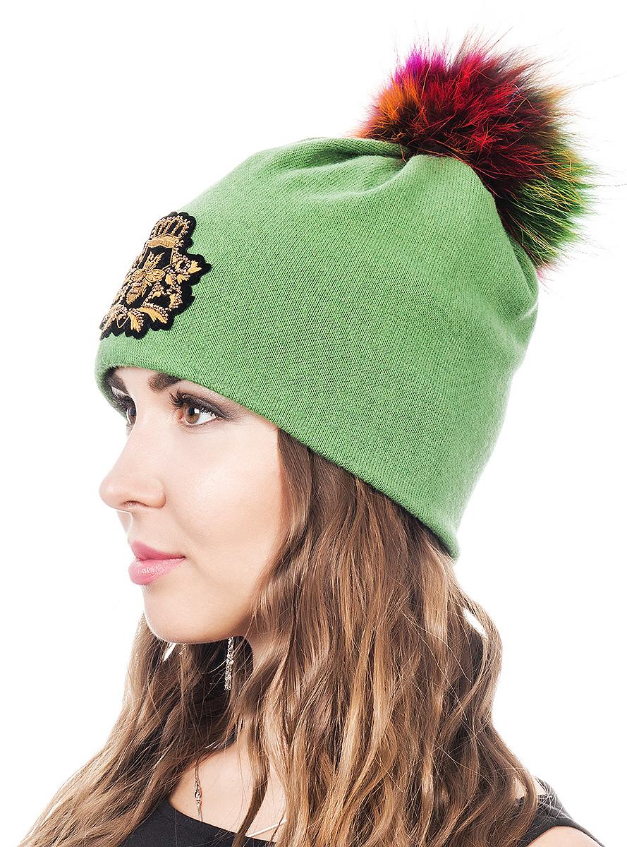Шапка женская Level Pro Шеврон, цвет: светло-зеленый. 402937. Размер 56/58402937Женская шапка Level Pro Шеврон отлично дополнит ваш образ в холодную погоду. Модель выполнена из высококачественной пряжи. Для комфорта и тепла внутри шапки предусмотрена мягкая флисовая подкладка. Шапка дополнена пушистым помпоном на макушке. Изделие украшено нашивкой. Такая шапка станет модным и стильным дополнением вашего гардероба, в ней вам будет уютно и тепло!