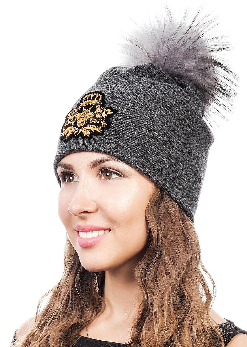 Шапка женская Level Pro Шеврон, цвет: серый меланж. 998717. Размер 56/58 шапки mialt шапка