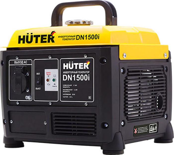 Генератор инверторный Huter DN1500i64/10/4Инверторный генератор Huter DN1500i - однофазная установка, которая использоваться в качестве аварийного или запасного источника электроэнергии. Модель успешно эксплуатируется на даче, в загородном доме, на пикнике. Ударопрочный корпус надежно защищает двигатель агрегата от механических повреждений. Специальная пластиковая крышка на розетке препятствует попадаю пыли и влаги. Накладки на опорных ножках генератора снижают уровень вибраций, что значительно продлевает срок его службы.