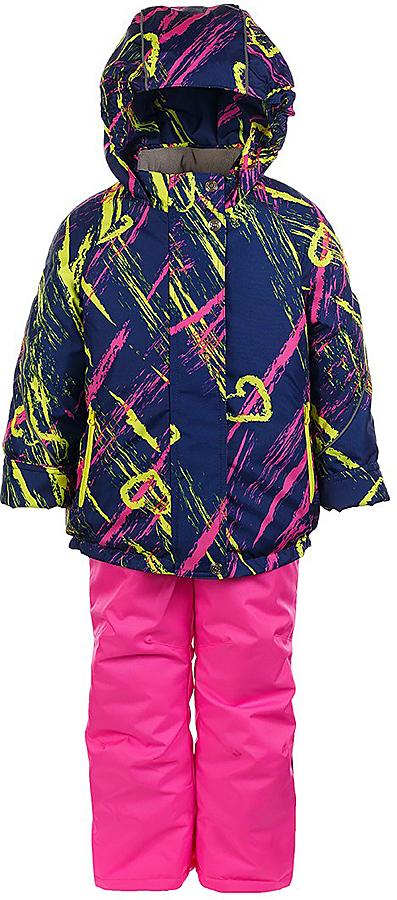 Комплект для девочки Jicco By Oldos Галата: куртка и полукомбинезон, цвет: темно-синий, розовый, желтый. 1J7SU03. Размер 92, 2 года1J7SU03Комплект для девочки Jicco By Oldos, состоящий из куртки и полукомбинезона, выполнен из полиэстера с водо-грязеотталкивающей пропиткой. Подкладка-флис, в рукавах и брючинах - гладкий полиэстер. Куртка дополнена капюшоном, воротником - стойкой, двумя карманами на молниях, а также светоотражающими элементами. Изделие застегивается на молнию и имеет двойную ветрозащитную планку. Рукава с отворотом и внутренней трикотажной саморегулирующейся манжетой. Эластичная талия полукомбинезона и регулируемые подтяжки гарантируют посадку по фигуре, длинная молния впереди облегчает процесс одевания.