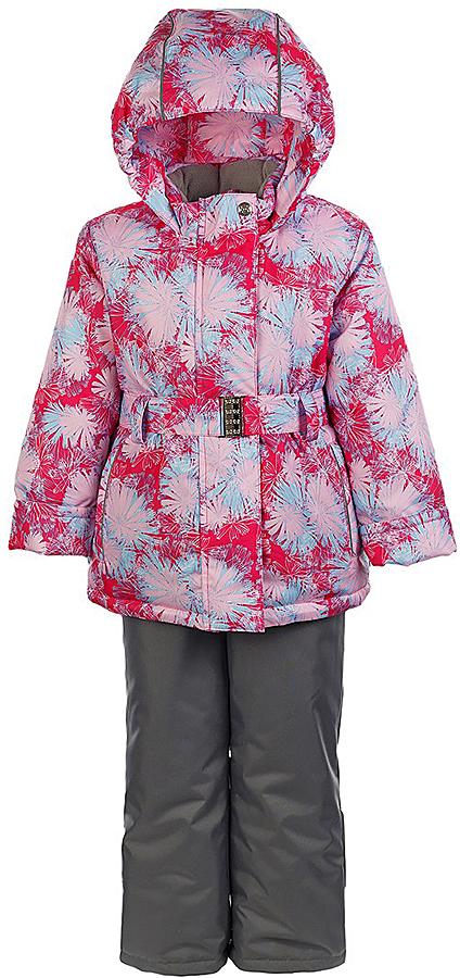 Комплект для девочки Jicco By Oldos Николь: куртка и полукомбинезон, цвет: розовый, серый. 1J7SU05. Размер 104, 4 года1J7SU05Комплект для девочки Jicco By Oldos, состоящий из куртки и полукомбинезона, выполнен из полиэстера с водо-грязеотталкивающей пропиткой. Подкладка-флис, в рукавах и брючинах - гладкий полиэстер. Куртка дополнена капюшоном, воротником - стойкой, двумя карманами на молниях, а также светоотражающими элементами. Изделие застегивается на молнию, имеет двойную ветрозащитную планку и дополнено поясом. Рукава с отворотом и внутренней трикотажной саморегулирующейся манжетой. Эластичная талия полукомбинезона и регулируемые подтяжки гарантируют посадку по фигуре, длинная молния впереди облегчает процесс одевания.