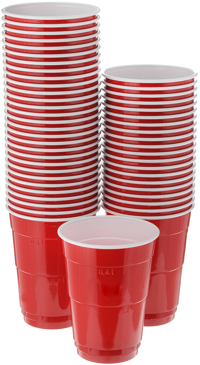 Набор одноразовых стаканов Huhtamaki Party Cups, 400 мл, 50 штПОС34524Набор Huhtamaki Party Cups, изготовленный из пластика, состоит из 50 стаканов и предназначен для подачи горячих и холодных напитков. Вы можете взять их с собой на природу, в парк, на пикник и наслаждаться вкусными напитками. Диаметр (по верхнему краю): 9,5 см. Высота: 12 см.