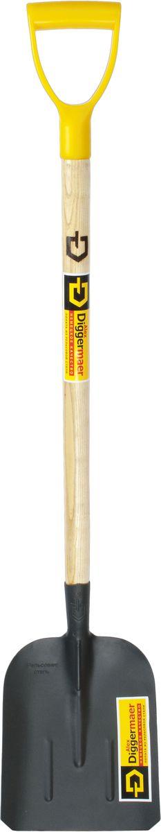 Лопата совковая Alex Diggermaer Тип 2, песочная, с черенком и ручкой, цвет: черный. D1.4С1РD1.4С1РЛопата совковая песочнаяAlexDiggermaer(тип 2) предназначена для работы с сыпучими грузами, такими как песок, гравий, уголь, зерно. Также возможно применение лопаты при работе с бетоном, при разгрузке сыпучих материалов, осуществляющейся через люки в железнодорожных вагонах, обратной стороной лопаты. Полотно лопаты имеет форму прямоугольника с закраинами, три ребра жесткости. Благодаря наличию ребер жесткости, лопата очень прочная, вы в этом убедитесь непременно много раз. Полотно лопаты изготовлено по уникальной технологии из высококачественной рельсовой стали, покрыто порошковой краской. Лопата оснащена высококачественным черенком, покрытым лаком и эргономичной легкой пластиковой ручкой.