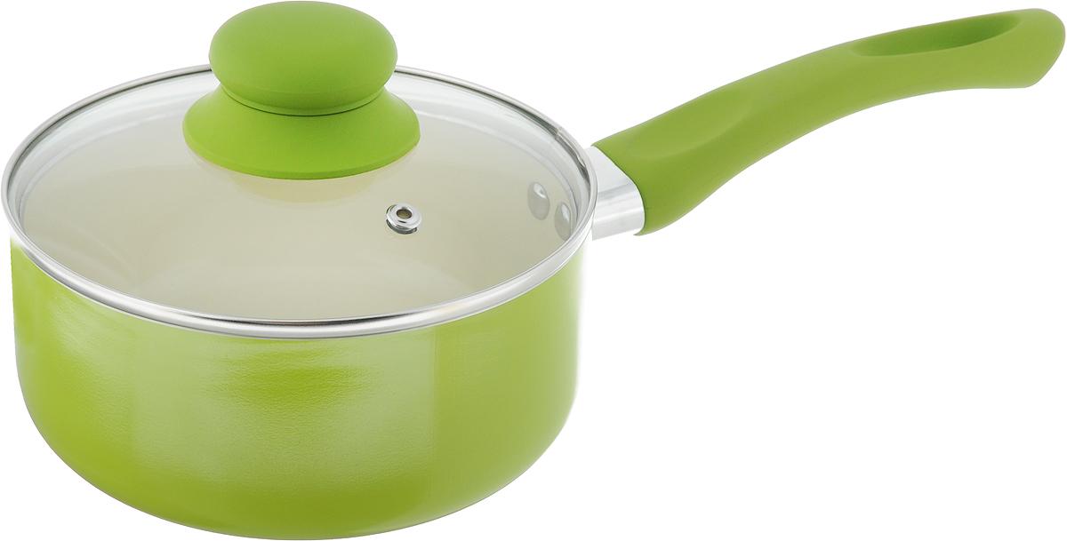 Ковш  Mayer & Boch  с крышкой, с керамическим покрытием, цвет: салатовый, 1,5 л - Посуда для приготовления