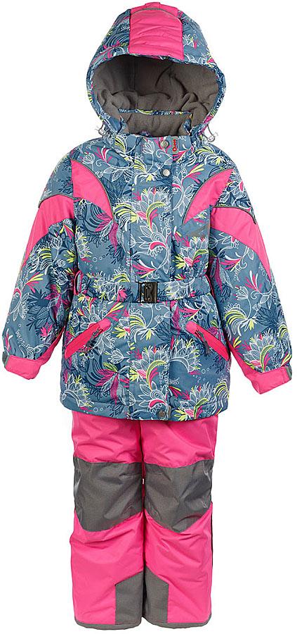 Комплект для девочки Oldos Active Дазирэ: куртка и полукомбинезон, цвет: серый, розовый неон. 1A7SU02. Размер 134, 9 лет1A7SU02Практичный зимний костюм OLDOS ACTIVE Дазирэ состоит из куртки и полукомбинезона. Внешнее покрытие TEFLON - защита от воды и грязи, износостойкость, за изделием легко ухаживать. Мембрана 5000/5000 обеспечивает водонепроницаемость, одежда дышит. Гипоаллергенный утеплитель HOLLOFAN PRO 200/150 г/м2 - эффективно удерживает тепло и дарит свободу движения. Подкладка - флис, в рукавах и брючинах – гладкий полиэстер. Карманы на молнии, внутренний карман с нашивкой-потеряшкой, пояс. Полукомбинезон приталенный. Костюм имеет светоотражающие элементы. Изделие прекрасно защитит от ветра и снега, т.к. имеет ряд особенностей. В куртке: съемный капюшон с регулировкой объема, воротник-стойка, ветрозащитные планки, снего-ветрозащитная юбка. Манжеты на рукавах регулируются по ширине, есть эластичные манжеты с отверстием для большого пальца. Низ куртки регулируется по ширине. В полукомбинезоне: широкие эластичные регулируемые подтяжки, карманы, усиления в местах износа, защитные муфты. Рекомендовано от минус 30°С до плюс 5°С.