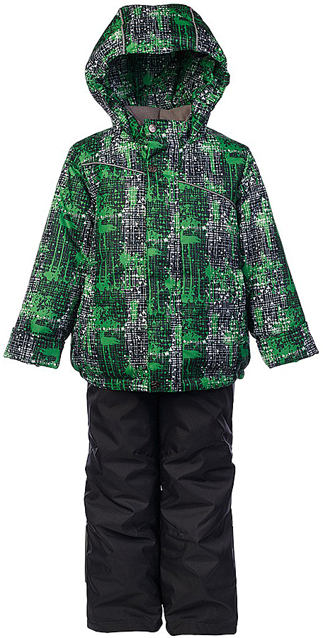Комплект для мальчика Jicco By Oldos Джед: куртка и полукомбинезон, цвет: темно-серый, зеленый. 1J7SU07. Размер 128, 8 лет1J7SU07Комплект для мальчика Jicco By Oldos, состоящий из куртки и полукомбинезона, выполнен из полиэстера с водо-грязеотталкивающей пропиткой. Гипоаллергенный утеплитель сохраняет тепло и быстро сохнет. Подкладка-флис, в рукавах и брючинах - гладкий полиэстер. Куртка дополнена капюшоном, воротником - стойкой и двумя карманами на молниях. Изделие застегивается на молнию, имеет двойную ветрозащитную планку. Рукава с отворотом и внутренней трикотажной саморегулирующейся манжетой. Эластичная талия полукомбинезона и регулируемые подтяжки гарантируют посадку по фигуре, длинная молния впереди облегчает процесс одевания. Изделие имеет светоотражающие элементы.