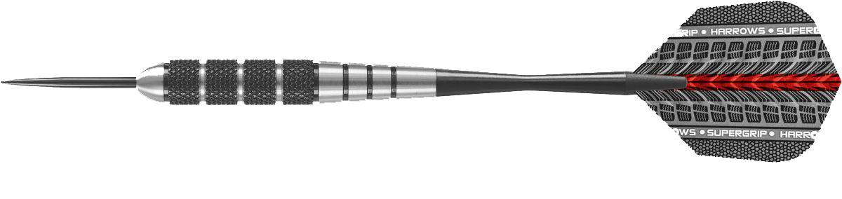 Набор дротиков Harrows Блэк Джек, цвет: черный металлик, 23 г, 3 шт набор дротиков harrows айс 90% цвет голубой серебристый 26 г 3 шт