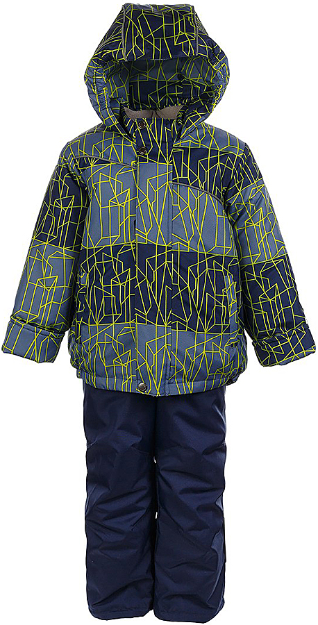 Комплект для мальчика Jicco By Oldos Сэм: куртка и полукомбинезон, цвет: синий, салатовый. 1J7SU09. Размер 116, 6 лет1J7SU09Комплект для мальчика Jicco By Oldos, состоящий из куртки и полукомбинезона, выполнен из полиэстера с водо-грязеотталкивающей пропиткой. Гипоаллергенный утеплитель сохраняет тепло и быстро сохнет. Подкладка-флис, в рукавах и брючинах - гладкий полиэстер. Куртка дополнена капюшоном, воротником - стойкой и двумя карманами на молниях. Изделие застегивается на молнию, имеет двойную ветрозащитную планку. Рукава с отворотом и внутренней трикотажной саморегулирующейся манжетой. Эластичная талия полукомбинезона и регулируемые подтяжки гарантируют посадку по фигуре, длинная молния впереди облегчает процесс одевания. Изделие имеет светоотражающие элементы.