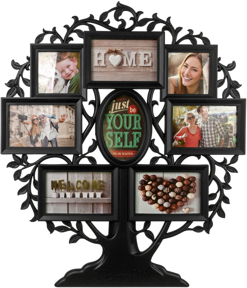 Фоторамка Platinum Родословное дерево. Family, цвет: черный, на 8 фото. BIN-1124063-B
