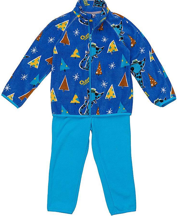Комплект для мальчика флисовый Oldos Active Джак: кофта, брюки, цвет: синий, голубой. 4КС1703. Размер 92, 2 года4КС1703Мягкий и теплый костюм OLDOS ACTIVE Джак для мальчика выполнен из флиса. Флис имеет двустороннюю антипиллинговую обработку, что позволяет надолго сохранить внешний вид и его основные характеристики. Костюм состоит из принтованной кофты на молнии и однотонных брюк. Воротник-стойка кофты хорошо прилегает и закрывает шею ребенка от ветра. Изнутри шов воротника укреплен х/б лентой, что предотвращает деформацию и натирание. В пояс брюк вшита резинка, есть возможность отрегулировать посадку по талии с помощью внутреннего шнурка. Низ кофты, рукавов и брючин окантованы эластичной тесьмой. В флисовом костюме будет комфортно и тепло на улице и в помещении. Может быть использован зимой в качестве второго слоя под верхнюю одежду. Костюм отлично сочетается с мембранной одеждой OLDOS ACTIVE.