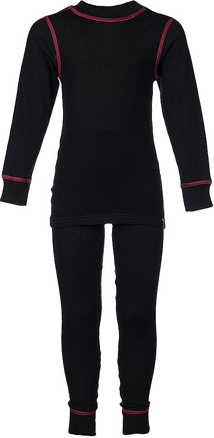 Комплект термобелья для девочки Oldos Active Base: футболка с длинным рукавом, леггинсы, цвет: черный, розовый. 001ДН. Размер 116, 6 лет001ДНУниверсальный комплект термобелья для девочки Oldos Active Base, состоящий из футболки с длинным рукавом и леггинсов, подойдет для вашего ребенка в прохладную погоду. Модель с однослойной структурой выполнена из полиэстера, она очень мягкая и приятная на ощупь. Эластичные плоские швы изделия не вызывают раздражений. Однослойное полотно с начесом обеспечит максимальное отведение влаги от тела ребенка и тепловой комфорт. Термобелье отличается от обычного белья лучшей способностью сохранять тепло между кожей и тканью, вдобавок оно более эластичное, благодаря чему оно не стесняет движений, не деформируется и служит дольше. Футболка с длинными рукавами и круглым вырезом горловины оформлена контрастной прострочкой. На рукавах предусмотрены широкие эластичные манжеты. Вырез горловины дополнен трикотажной резинкой. Спинка модели удлинена.Леггинсы имеют на поясе мягкую эластичную резинку, благодаря чему они не сдавливают животик ребенка и не сползают. Низ брючин дополнен широкими манжетами. Модель оформлена контрастной прострочкой.Комплект термобелья станет отличным дополнением к детскому гардеробу. Он может применяться при активном отдыхе, а также при повседневном ношении.Рекомендуемый температурный режим от +5°С до -25°С.