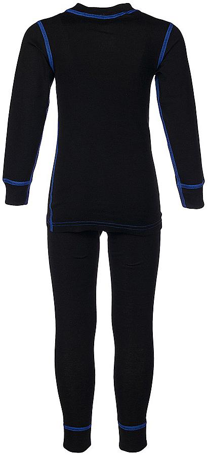 Комплект термобелья для мальчика Oldos Active Base: футболка с длинным рукавом, кальсоны, цвет: черный, василек. 001МН. Размер 146, 11 лет