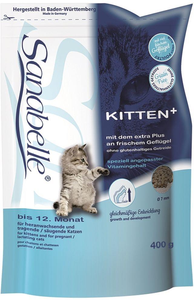 Корм сухой Sanabelle Kitten для котят до года и беременных кормящих кошек, 400 г57805Маленькие котята растут быстро. Их кости, мышцы и другие органы, находятся в стадии развития. Поэтому на этом этапе котята нуждаются в особом соотношении питательных веществ.С кормом для котят Sanabelle Kitten супер премиум класса малыши получают сбалансированную долю высококачественных аминокислот (из яиц и протеина, полученного из мяса домашней птицы). Этот корм очень вкусный, энергоемкий и легко усваивается. Способствует правильному развитию скелетно-мышечной и зубной систем, обеспечивает оптимальное пищеварение, отличное состояние кожи и шерсти, повышает у котенка естественный иммунитет.Котята с удовольствием едят сухой корм Sanabelle Kitten. Их организм правильно развивается с первых же дней жизни, что дает предпосылки для хорошего старта - с рождения и на всю жизнь. Благодаря небольшому размеру крокет, Санабелль Киттен идеален для кормления молодых животных. Состав: белок 34 %, жир 21,5 %, клетчатка 2,0 %, зола 6,6 %, кальций 1,25 %, фосфор 1,0 %, магний 0,08 %, влажность 10 %. Энергетическая ценность (ккал/100г): 416. Добавки (на 1кг корма): витамин A 25000 МЕ, витамин D3 1500 МЕ, витамин E 600 мг, таурин 2000 мг, медь (сульфат меди, пентагидрат) 10 мг, цинк (оксид цинка) 30 мг, цинк (аминокислотный хелат цинка, гидрат) 75 мг, йод (йодат кальция, безводный) 2 мг, селен (селенит натрия) 0,2 мг.Технологические добавки: антиоксиданты. Ингредиенты: свежее мясо домашней птицы (мин. 20 %), рис, мука из мяса домашней птицы, животный жир, мясная мука, сорго, печень (дегидратированная), картофельный белок, гидролизованный белок, подкожная клетчатка (дегидратированная), рыбная мука, пульпа свёклы (без сахара), просо жёлтое, льняное семя, дрожжи (дегидратированные), рыбий жир, карбонат кальция, хлорид калия, клюква (дегидратированная), черника (дегидратированная), мука из мидий, порошок цикория, цветки бархатцев (дегидратированные), экстракт юкки (дегидратированный).Товар сертифицирован