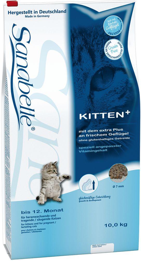Корм сухой Sanabelle Kitten для котят до года и беременных кормящих кошек, 10 кг57807Маленькие котята растут быстро. Их кости, мышцы и другие органы, находятся в стадии развития. Поэтому на этом этапе котята нуждаются в особом соотношении питательных веществ.С кормом для котят Sanabelle Kitten супер премиум класса малыши получают сбалансированную долю высококачественных аминокислот (из яиц и протеина, полученного из мяса домашней птицы). Этот корм очень вкусный, энергоемкий и легко усваивается. Способствует правильному развитию скелетно-мышечной и зубной систем, обеспечивает оптимальное пищеварение, отличное состояние кожи и шерсти, повышает у котенка естественный иммунитет.Котята с удовольствием едят сухой корм Sanabelle Kitten. Их организм правильно развивается с первых же дней жизни, что дает предпосылки для хорошего старта - с рождения и на всю жизнь. Благодаря небольшому размеру крокет, Санабелль Киттен идеален для кормления молодых животных. Состав: белок 34 %, жир 21,5 %, клетчатка 2,0 %, зола 6,6 %, кальций 1,25 %, фосфор 1,0 %, магний 0,08 %, влажность 10 %. Энергетическая ценность (ккал/100г): 416. Добавки (на 1кг корма): витамин A 25000 МЕ, витамин D3 1500 МЕ, витамин E 600 мг, таурин 2000 мг, медь (сульфат меди, пентагидрат) 10 мг, цинк (оксид цинка) 30 мг, цинк (аминокислотный хелат цинка, гидрат) 75 мг, йод (йодат кальция, безводный) 2 мг, селен (селенит натрия) 0,2 мг.Технологические добавки: антиоксиданты. Ингредиенты: свежее мясо домашней птицы (мин. 20 %), рис, мука из мяса домашней птицы, животный жир, мясная мука, сорго, печень (дегидратированная), картофельный белок, гидролизованный белок, подкожная клетчатка (дегидратированная), рыбная мука, пульпа свёклы (без сахара), просо жёлтое, льняное семя, дрожжи (дегидратированные), рыбий жир, карбонат кальция, хлорид калия, клюква (дегидратированная), черника (дегидратированная), мука из мидий, порошок цикория, цветки бархатцев (дегидратированные), экстракт юкки (дегидратированный).Товар сертифицирован