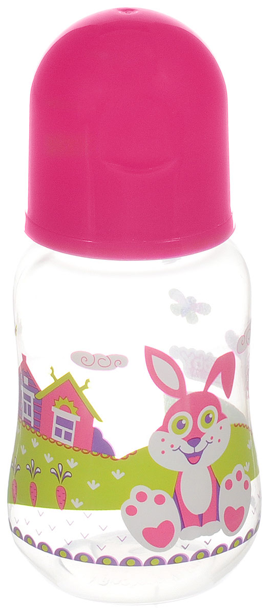 Lubby Бутылочка для кормления Русские мотивы от 0 месяцев цвет розовый 125 мл lubby нагрудник детский с рукавами в мире животных