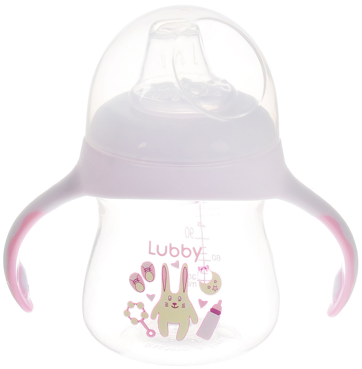 Lubby Поильник-непроливайка со сменным носиком Малыши и Малышки от 4 месяцев цвет светло-сиреневый 150 мл -  Поильники