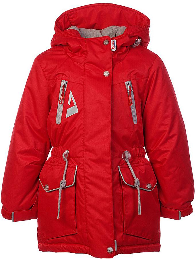 Куртка для девочки Oldos Active Киара, цвет: брусничный. 1A7JK00. Размер 158, 13 лет1A7JK00Практичная и технологичная зимняя куртка-парка для девочки. Внешнее покрытие TEFLON - защита от воды и грязи, износостойкость, за изделием легко ухаживать. Мембрана 5000/5000 обеспечивает водонепроницаемость, одежда дышит. Гипоаллергенный утеплитель HOLLOFAN PRO 200 г/м2 - тоньше обычного, но эффективнее удерживает тепло и дарит свободу движения. Подкладка - флис, в рукавах гладкий полиэстер. Карманы на молнии, внутренний карман с нашивкой-потеряшкой. Парка имеет светоотражающие элементы. Изделие прекрасно защитит от ветра и снега, т.к. имеет ряд особенностей: капюшон с регулировкой объема, ветрозащитные планки, снего-ветрозащитная юбка. Манжеты рукавов регулируются по ширине, есть эластичные манжеты с отверстием для большого пальца. Талия и низ куртки регулируются по ширине. Рекомендовано от минус 30°С до плюс 5°С.