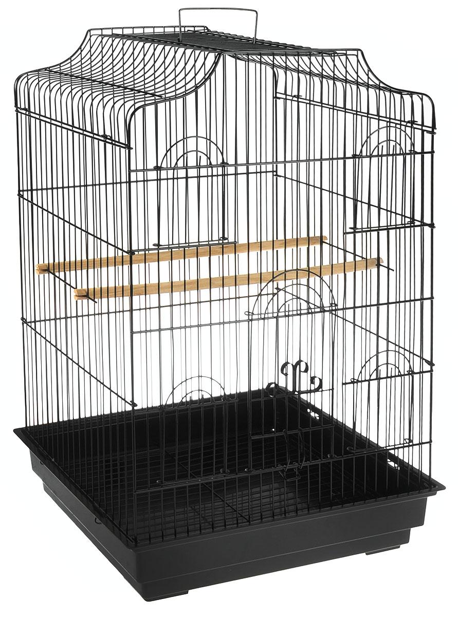 Клетка для птиц Triol, цвет: черный, 47,5 х 36 х 68 смK-6007_черныйКлетка для птиц Triol, выполненная из пластика и металла, предназначена для мелких птиц. Вы можете поселить в нее одну или две птицы.Изделие состоит из большого поддона и решетки. Клетка снабжена металлической дверцей и четырьмя окошками, которые открываются и закрываются движением вверх-вниз.Клетка также оснащена четырьмя кормушками и двумя жердочками.