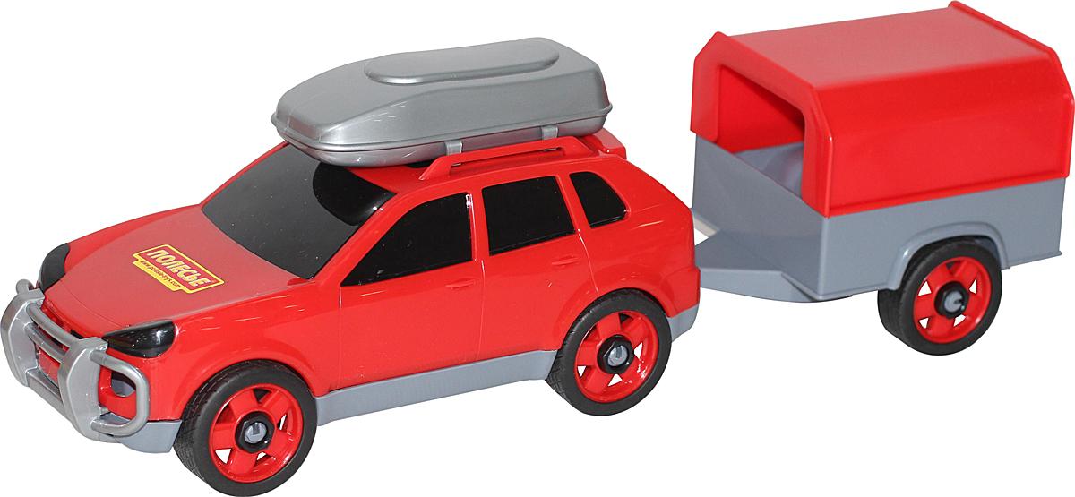 Полесье Автомобиль легковой с прицепом цвет красный полесье конструктор автомобиль легковой с прицепом
