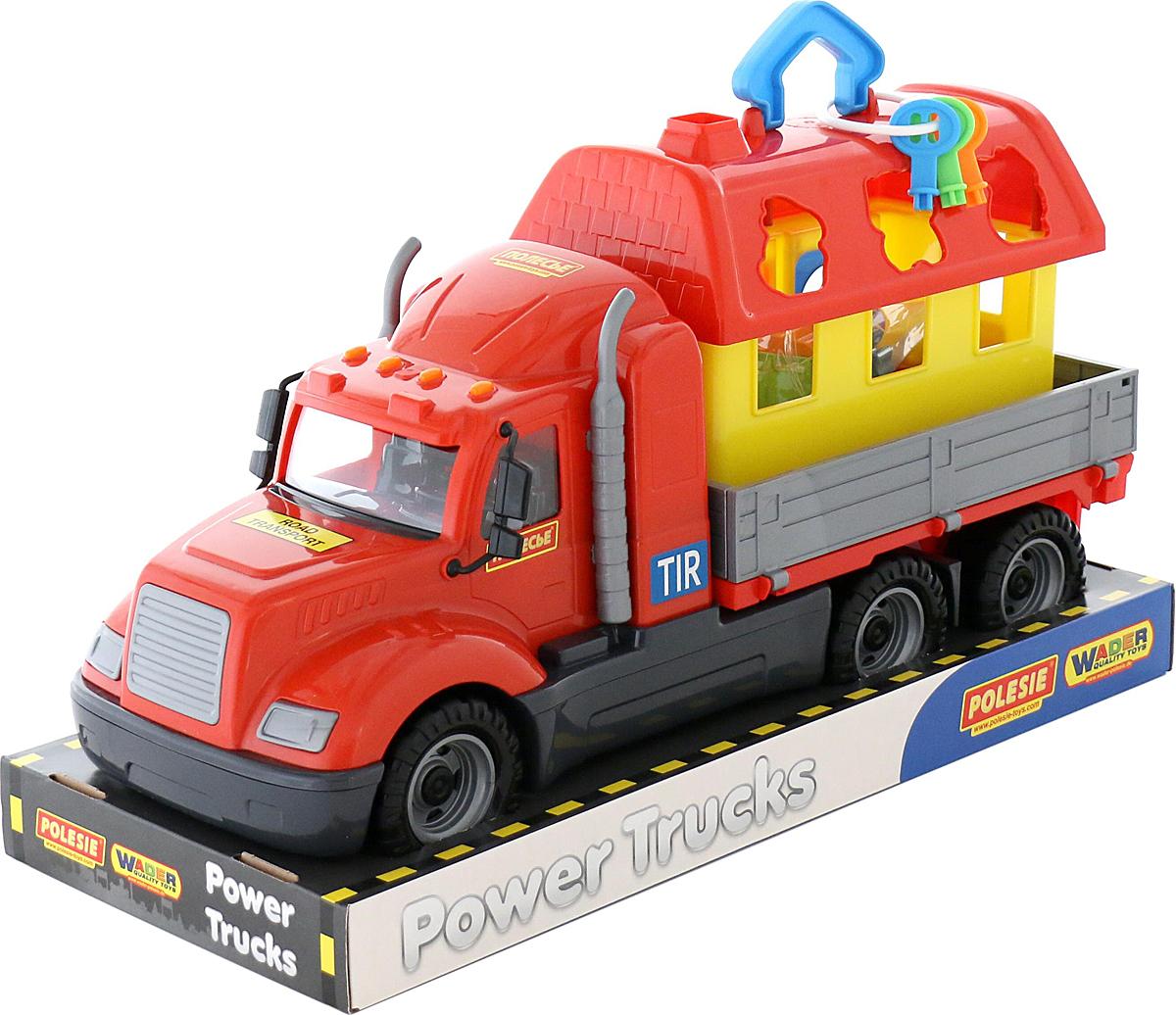 Полесье Грузовик бортовой Майк и домик для зверей 58461 автомобиль пожарный полесье майк в коробке 61973