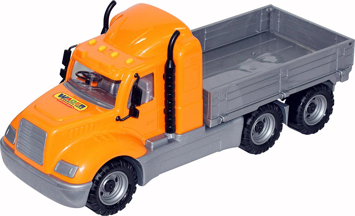 Полесье Грузовик бортовой Майк цвет оранжевый серый 55477 машины полесье автомобиль лидер