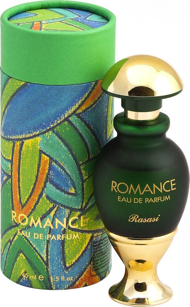 Rasasi Парфюмерная вода для женщин Romance women, 45 мл0614514310069Romance Rasasi - это аромат для женщин, принадлежит к группе ароматов цветочные древесно-мускусные. Аромат для женщин, которые буквально светятся умиротворением, любовью и счастьем, несут в мир гармонию и красоту. Именно им посвящается необыкновенно изысканный Romance. Ваша женственность, чувственность, непосредственность и элегантность - вот качества, которые ценит ваш аромат. И он доказывает свою преданность день за днём, каждую минуту! Вы будете переживать свои чувства снова и снова и сохраните их навсегда. Потому что верность - основа любви. Его полюбили миллионы за нежность, искренность, влюбленность и страстность.Свежая цветочная нота, шалфей, специи с чуть заметным лимонным оттенком - это первая нота очень чувственных духов Романтика. Сердце аромата - бергамот, свежие восточные специи, мускатный орех. Заключительный аккорд - свежий цитрус, амбра, немного древесного масла, сандал и пачули. Духи для ежедневного применения, подойдут для элегантной, чувственной женщины.