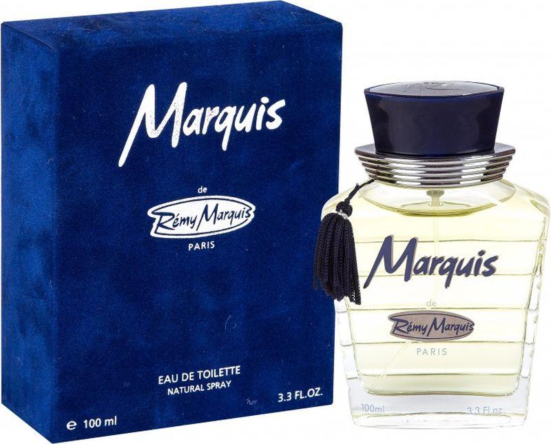 Remi Marquis Туалетная вода для мужчин Marquis, 100 мл3700082500067Богатый древесный парфюм для мужчин с изящным и тонким вкусом. Ароматные цитрусовые верхние ноты придают Marquis динамичный тонизирующий эффект, а четкий запах озона добавляет букету игривость. Затем главные ноты открываются пряным, теплым запахом, который раскрывается чувственными оттенками ароматов смолы и мускуса.