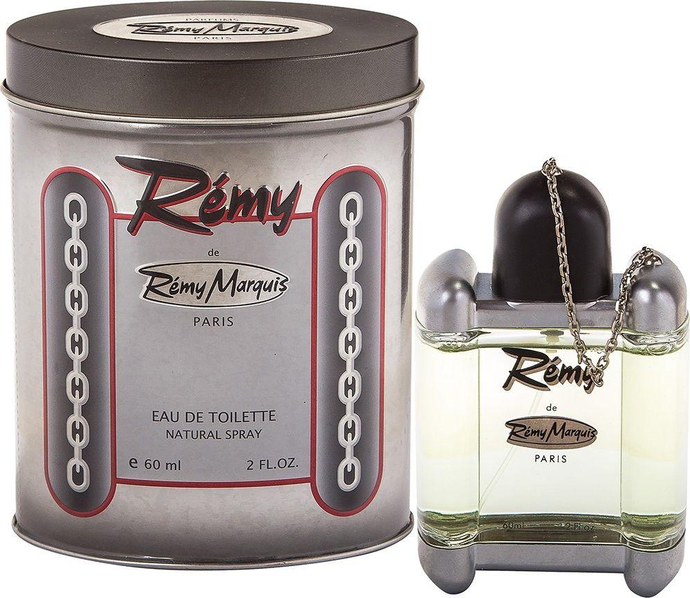 Remi Marquis Туалетная вода для мужчин Remy, 60 мл3700082500012Запах Remy вызовет у вас чувство уверенности в своей неотразимости. Верхние ноты: бергамот, грейпфрут, лимон, мята. Ноты сердца: герань, корица, мускатный орех. Базовые ноты: кедр, мускус, сандаловое дерево, янтарь.