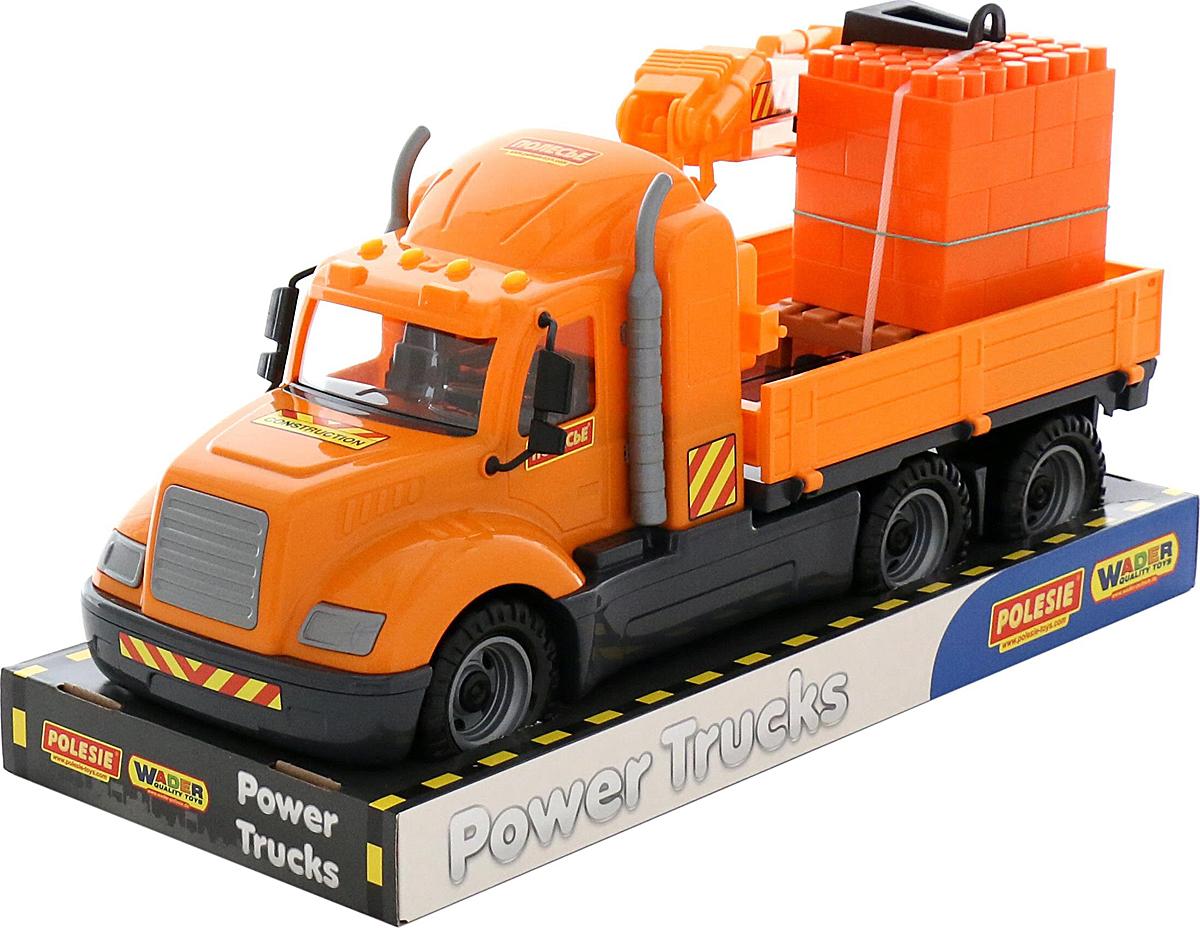 Полесье Грузовик с манипулятором Майк и конструктор Супер-Микс 30 элементов 58508 б у грузовик с манипулятором в кра