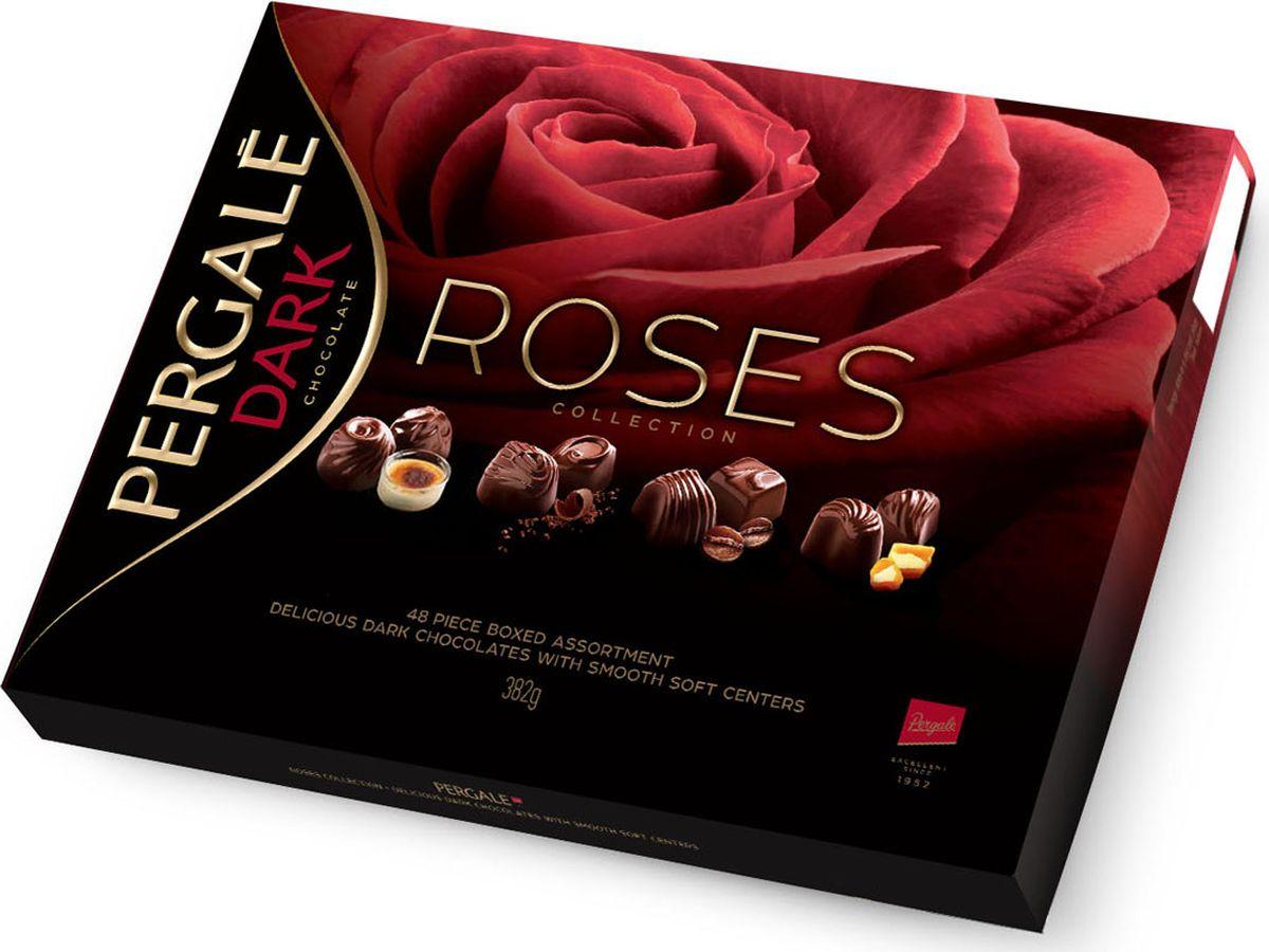 Pergale Розы набор конфет ассорти, 382 г набор конфет pergale dark розы ассорти 382г