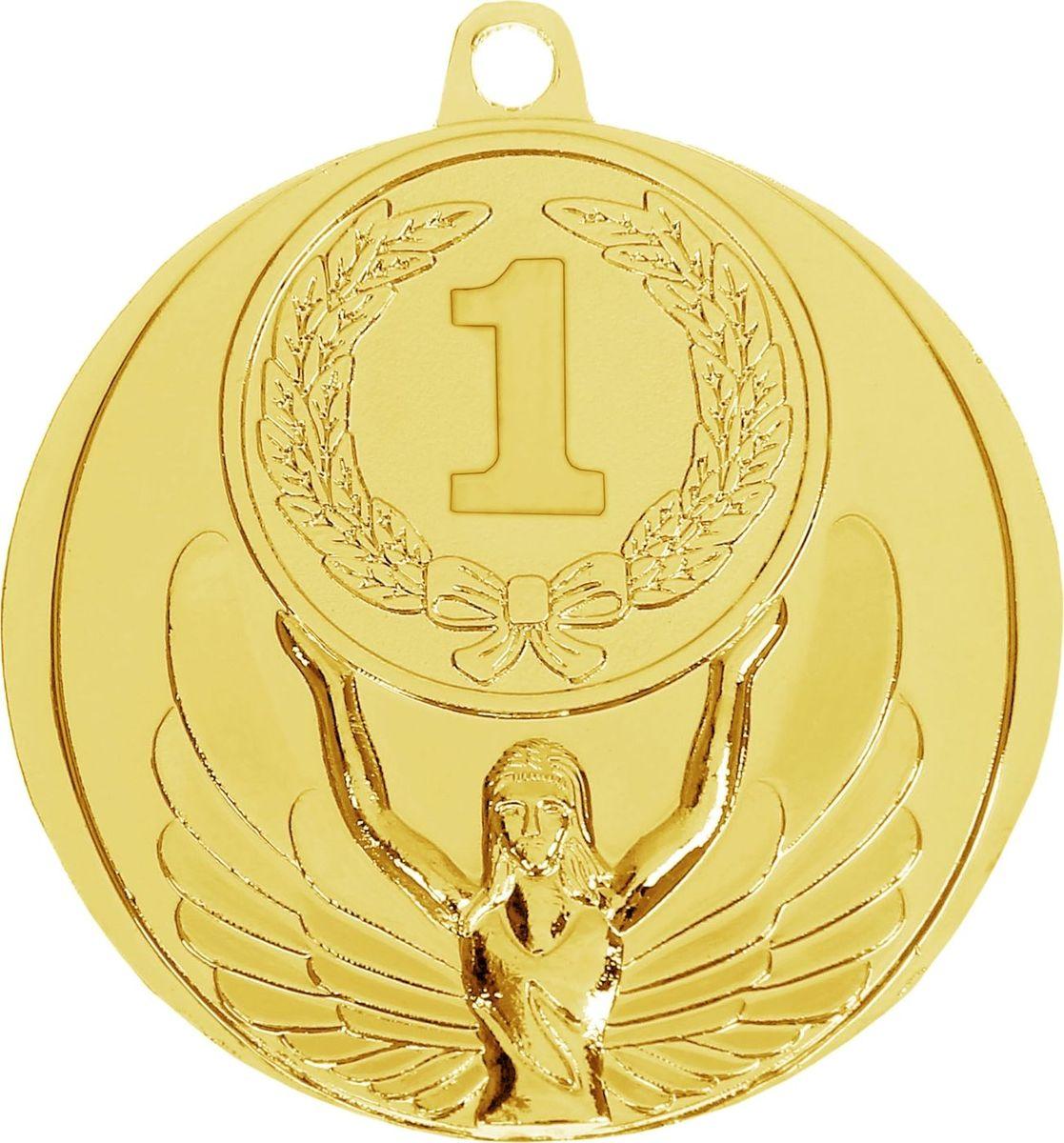 Медаль сувенирная 1 место, цвет: золотистый, диаметр 4,5 см. 0171028262Медаль — знак отличия, которым награждают самых достойных. Она вручается лишь тем, кто проявил настойчивость и волю к победе. Такое достижение должно остаться в памяти на долгие годы. Поэтому любое спортивное состязание (профессиональное, среди любителей или корпоративное мероприятие) — отличный повод для того, чтобы отметить лучших из лучших. На металлической медали изображена фигура Ники — богини победы в древнегреческой мифологии. ХарактеристикиДиаметр медали: 4,5 см. Диаметр вкладыша (оборот): 4 см.
