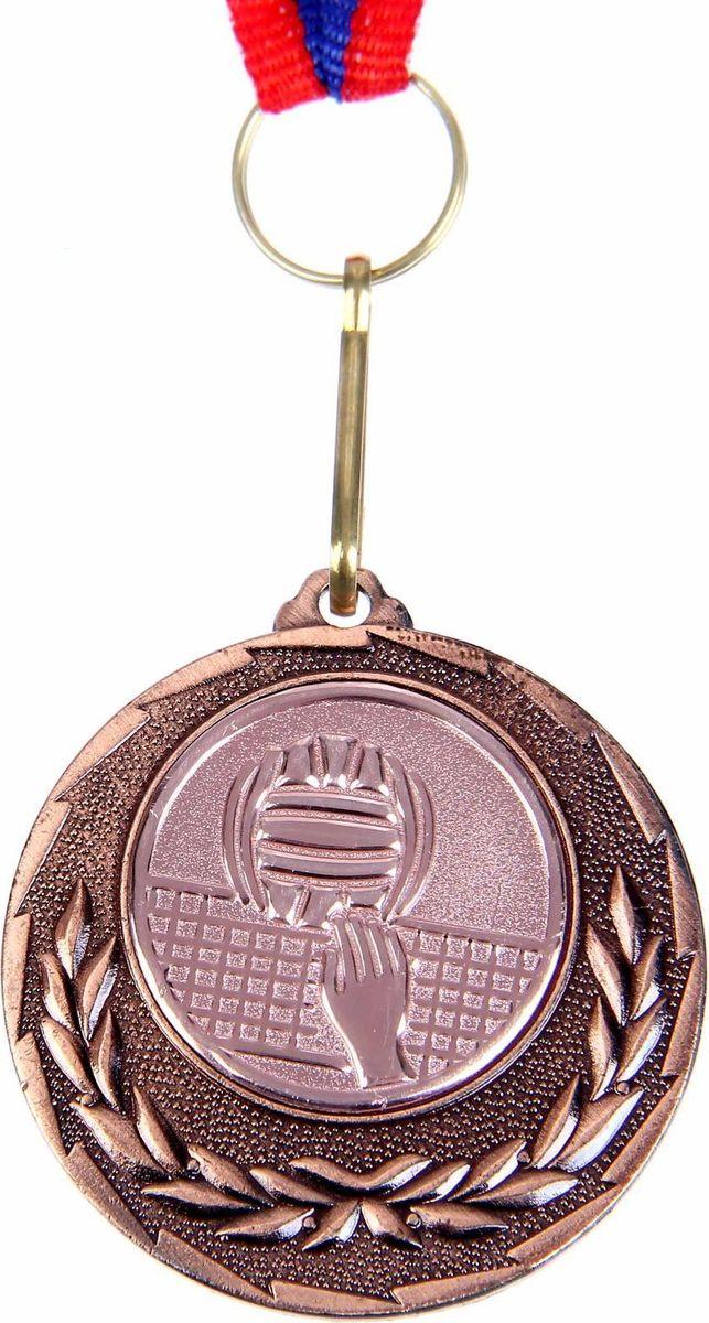Медаль сувенирная Волейбол, цвет: бронзовый, диаметр 4 см. 0321108642Подчеркните важность мероприятия, вручив победителям настоящие медали. Наши эксклюзивные изделия — достойная награда для любого повода. Металлическая медаль украшена орнаментом из лаврового венка — древнего символа победы и славы. Сувенир дополнен красочной лентой цвета флага Российской Федерации. Характеристики:Диаметр медали: 4 смДиаметр вкладыша (оборот): 3,5 см Ширина ленты: 1,2 см.