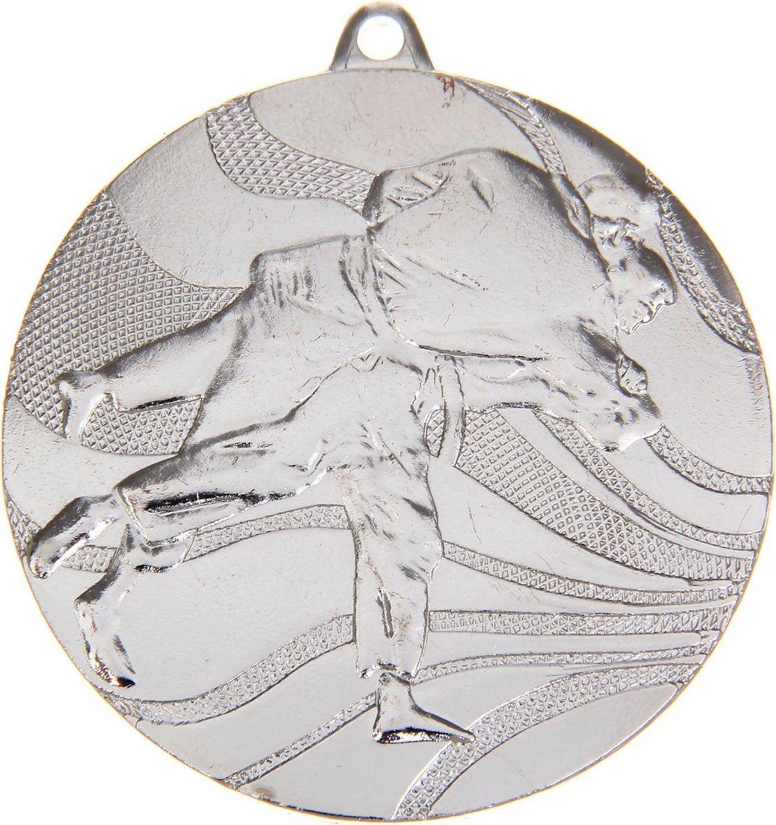 Медаль сувенирная Карате, цвет: серебристый, диаметр 5 см. 0411108674Заслуженный приз! Долгие изнурительные тренировки, напряжение перед соревнованием… Наконец ты вышел и показал всё, на что способен. И вот она — победа! — награда для настоящего чемпиона. Пусть каждый видит, кому именно сегодня покорился пьедестал. Блестящая награда на груди станет лучшим ответом скептикам и всегда будет напоминать, что упорный труд непременно вознаграждается. Наступит завтрашний день, и своё лидерство нужно будет доказывать заново. Ну а пока победитель сможет наслаждаться триумфом, глядя на эту медаль.Характеристики: Диаметр медали: 5 см Диаметр вкладыша (оборот): 4,5 см. Сверху расположено отверстие для крепления ленты.