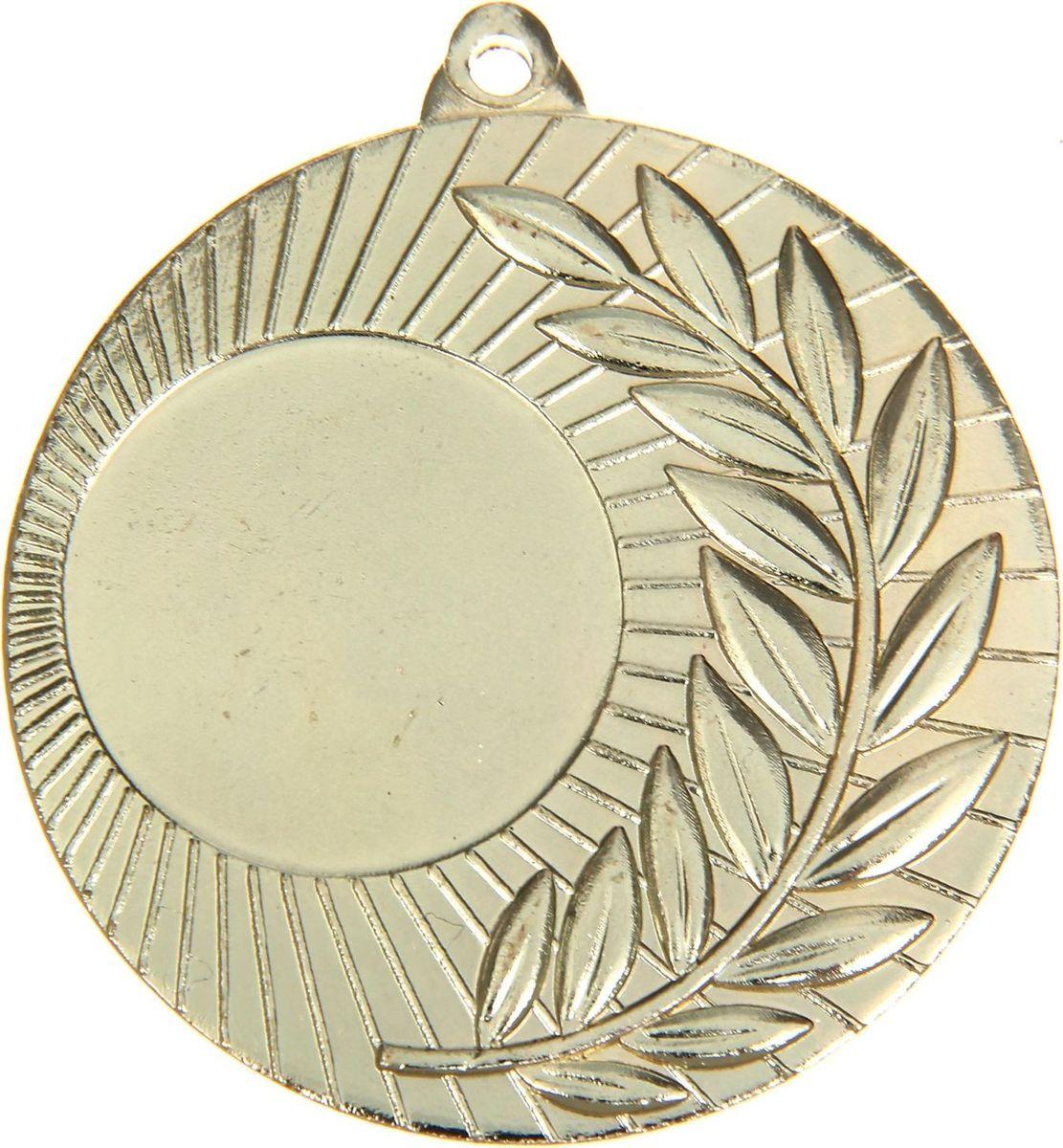 Медаль сувенирная с местом для гравировки, цвет: золотистый, диаметр 5 см. 0211108676Пусть любая победа будет отмечена соответствующей наградой! Медаль — знак отличия, которым награждают самых достойных. Она вручается лишь тем, кто проявил настойчивость и волю к победе. Каждое достижение — это важное событие, которое должно остаться в памяти на долгие годы. Медаль под нанесение 021, d=5, золото изготовлена из металла, в комплект входит лента цвета триколор, являющегося одним из государственных символов России. Характеристики: Диаметр медали: 5 см Диаметр вкладыша (лицо): 2,5 см Диаметр вкладыша (оборот): 4,5 см Ширина ленты: 2,5 см.