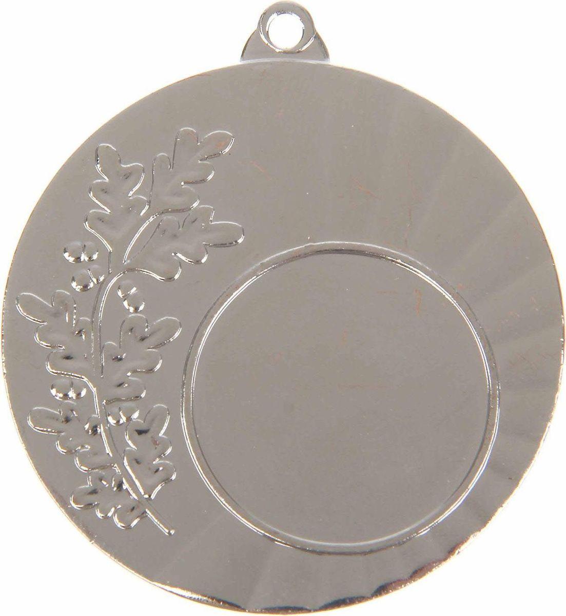 Медаль сувенирная с местом для гравировки, цвет: серебристый, диаметр 4,5 см. 0251108698Медаль — знак отличия, которым награждают самых достойных. Она вручается лишь тем, кто проявил настойчивость и волю к победе. Каждое достижение — это важное событие, которое должно остаться в памяти на долгие годы. Любое спортивное состязание, профессиональное или среди любителей, любое корпоративное мероприятие — отличный повод для того, чтобы отметить лучших из лучших. Характеристики:Диаметр медали: 4,5 см Диаметр вкладыша (лицо): 2,5 см Диаметр вкладыша (оборот): 4 см. Пусть любая победа будет отмечена соответствующей наградой!