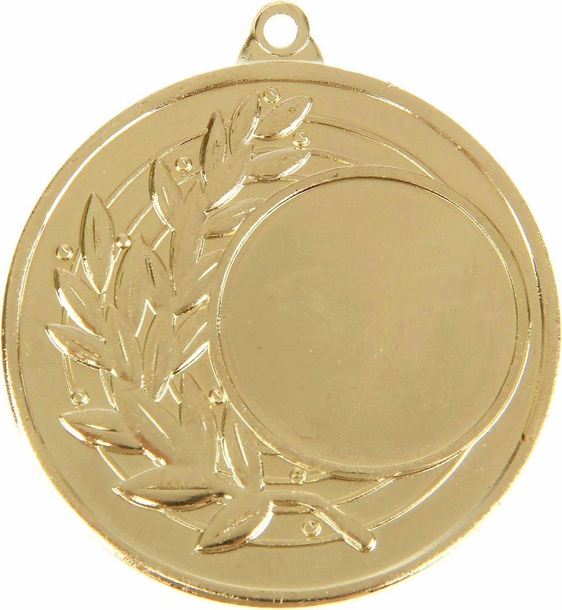 Медаль сувенирная с местом для гравировки, цвет: золотистый, диаметр 4,5 см. 0261108700Медаль — знак отличия, которым награждают самых достойных. Она вручается лишь тем, кто проявил настойчивость и волю к победе. Каждое достижение — это важное событие, которое должно остаться в памяти на долгие годы. Любое спортивное состязание, профессиональное или среди любителей, любое корпоративное мероприятие — отличный повод для того, чтобы отметить лучших из лучших. Характеристики:Диаметр медали: 4,5 см Диаметр вкладыша (лицо): 2,5 см Диаметр вкладыша (оборот): 4 см. Пусть любая победа будет отмечена соответствующей наградой!