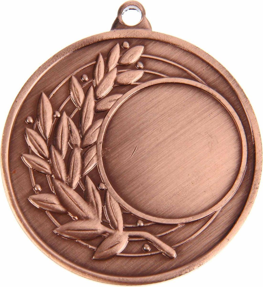 Медаль сувенирная с местом для гравировки, цвет: бронзовый, диаметр 4,5 см. 0261108702Медаль — знак отличия, которым награждают самых достойных. Она вручается лишь тем, кто проявил настойчивость и волю к победе. Каждое достижение — это важное событие, которое должно остаться в памяти на долгие годы. Любое спортивное состязание, профессиональное или среди любителей, любое корпоративное мероприятие — отличный повод для того, чтобы отметить лучших из лучших. Характеристики:Диаметр медали: 4,5 см Диаметр вкладыша (лицо): 2,5 см Диаметр вкладыша (оборот): 4 см. Пусть любая победа будет отмечена соответствующей наградой!